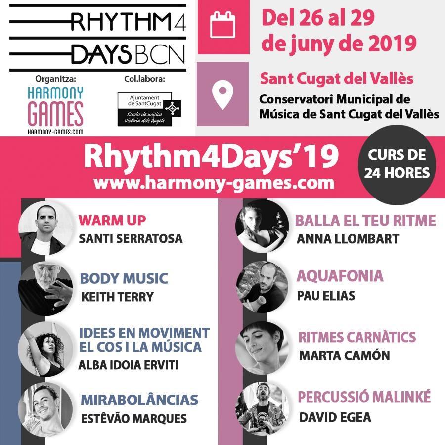 Cartel informativo del evento Rhythm4Days